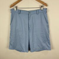 Nike Golf Shorts Mens 32 Medium Blue Bermuda Zip Closure Pockets
