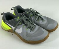 Nike Metcon 1 Wolf Grey/White-Cool Grey-Volt Men's Size 10 704688 017