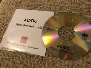 AC/DC Rock N Roll Train Rare Promo 1 Track CD Pre Release 2008 Mint Black Ice