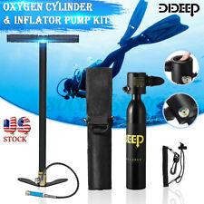 Dideep 0.5L Mini Scuba Tank Diving Air Oxygen Equipment Inflator Pump Underwater