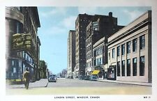 Vintage Postcard of London Street, Windsor, Canada, ca. 1948