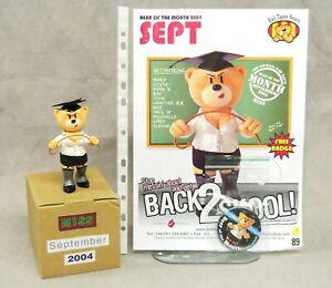 ORIGINAL BAD TASTE BEAR FIGURE, POSTER & BADGE FOR SEPT 2004 - MISS - NO 89.