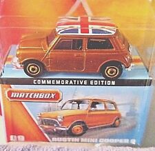 MATCHBOX 2012 60TH ANNIVERSARY 1/64 GOLD AUSTIN MINI COOPER #9 W/BOX RARE! HTF!