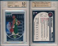 Kevin Durant 2007 Bowman Chrome Refractor #111 Rookie Card  #/ 299 Rc BGS 9.5