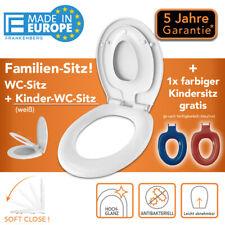WC Sitz Kindertoilette Familien Kinder Toilettensitz Soft-Close Deckel Klodeckel