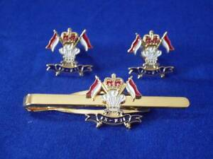 9th / 12th ROYAL LANCERS CUFF LINKS AND TIE GRIP / CLIP SET