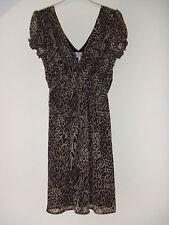 Gorgeous Black & Brown Animal Print Lined Dress by Lipsy - Size 10 - BNWOT!!