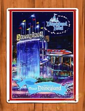 "Tin Sign ""Disneyland Hotel"" Disney Art Painting Ride Movie Poster Cartoon"