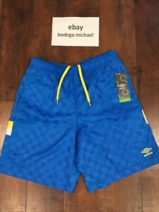 New With Tags Umbro Men's Green Tri-Check Soccer Shorts Size Large $40 Retail