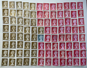 96 1st Class Security Unfranked Postage Stamps Off Paper No Gum FV £80 Over