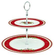 EasyLife Spirit of Christmas 2 Tier Porcelain Cake Stand