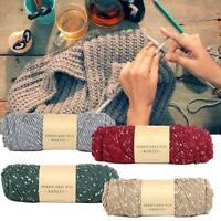 New Multicolor Soft Milk Crochet Cotton Yarn Snowflake Velvet Scarf Yarn 100g