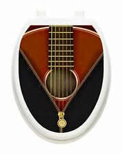 Toilet Tattoo Vinyl Lid Cover Removable Reusable Classic Guitar USA