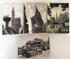 4x Strassbourg Bas-Rhin Frankreich France Carte Postale Lot frankiert ab 1953