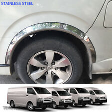 08 – 16 Stainless 4Dr Fender Flares Wheel Arch For Toyota Hiace Commuter Van D4D