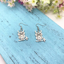 Owl Earrings Nature Jewelry, Bird Earrings Dangle Earrings, Hoot Owl