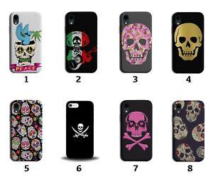 Gothic Skulls Phone Case Cover Punk Princess Floral Sugar Skull Mexico 8236 J