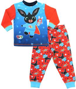 Boys CBeebies Bing Bunny Pyjamas Bing and Hoppity Long PJs  Red and Blue