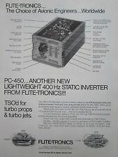 9/1980 PUB FLITE-TRONICS PC-450 STATIC INVERTER TURBO PROPS JETS ORIGINAL AD