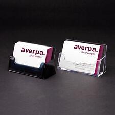 1 Stück Visitenkartenständer Visitenkartenhalter Aufsteller Visitenkarten klar
