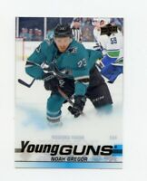 19/20 UPPER DECK YOUNG GUNS CLEAR CUT ROOKIE RC #462 NOAH GREGOR SHARKS *66708