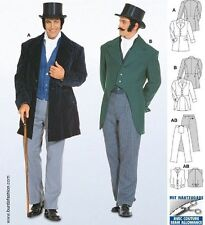BURDA 1848 VICTORIAN ERA MEN'S SUIT TUXEDO STEAMPUNK COSTUME PATTERN SIZE 34-50