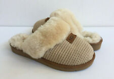 UGG COZY KNIT CREAM SHEARLING LINED SLIPPERS US 6 / EU 37 / UK 4