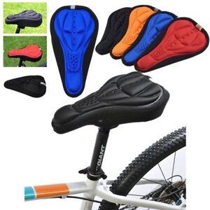 Bike Gel Saddle Cushion Silicone Mountain Cycling Ride Racing Bicycle Seat Cover