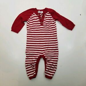 Infant Sweater Red Striped One Piece Outfit 3-6 month Christmas Holiday