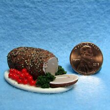 Dollhouse Miniature Dinner Roasted Pork Loin Platter ~ Food for the Table