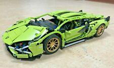 1254pcs Racing Green Super Sports Car Building Blocks Brick Set Kit Educational