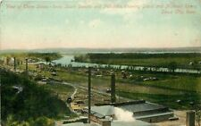 Sioux City Iowa~Showing IA NE SD Sioux and Missouri Rivers~Factories~Tracks 1910