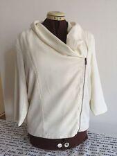 Ann Taylor LOFT Lou & Grey Drapey Tencel Ivory White Cardigan Jacket Lined S