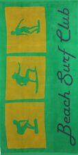 Betz Serviette de plage en velours 100% coton 70x140 cm dessin BEACH SURF CLUB