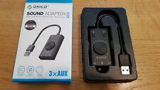 ORICO SC2 External USB Sound Card Volume Adjustable Audio Card Adapter PC