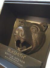 BLKSMITH Cast Iron Bottle Opener Bear Head Brand New Man Cave Bar