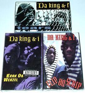 """DA KING & I 3 SEALED RAP TAPE CASSETTE G FUNK GANGSTER 12"""" Og lp nwa dr dre 2pac"""