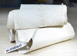 Genuine white fish skin, exclusive leather, uncoated salmon Skin, exclusive