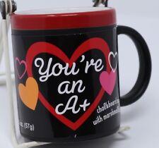 Teacher You're An A+ Chalkboard Coffee Mug 12 Oz Tea Cup Hot Cocoa New Gift AsIs