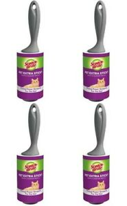 Case of 4 Scotch-Brite Pet Hair Rollers 839RS-60-4, 4 in x 31.4 ft