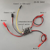 Dual Way Bidirectional Brushed Esc 2s-3s Lipo 5a Esc Speed Control For Rc Moy3