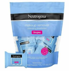 Neutrogena Cleansing Makeup Remover Facial Wipes, 20Count -Individually Wrapped