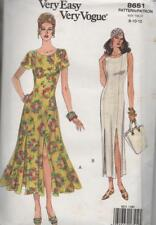 Vogue 8651 Misses Round Neck Dress 2 Styles Size 8 - 12