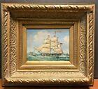 Vintage Maritime Ship Oil PaintingFramed Signed Robert Sanders Listed Artist