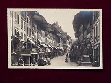 Cartolina tonno in Svizzera, vicolo principale, foto reale del 1930
