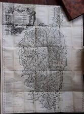 Jaussin / Vaugondy Histoire île de Corse 1738 1741 révolution nature politique