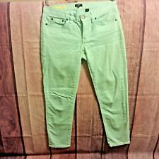 J.Crew Factory Womens Jeans 26 Skinny Stretch Denim Pastel Green Career Casual