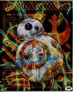 Brian Herring Star Wars The Last Jedi BB-8 Bam Box Signed Autograph Holo Photo
