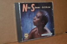 NINA SIMONE: LET IT BE ME; 1987 IMPORT ONLY VERVE LIKE NEW CD; RECORDED LIVE