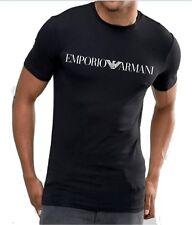 Emporio Armani Mens Black T shirt,chest logo, Slim fit size M*L*XL